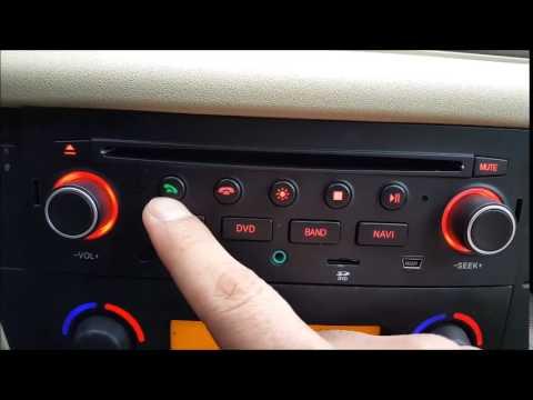 Citroen c4 bilstereo multimedia backkamera montering