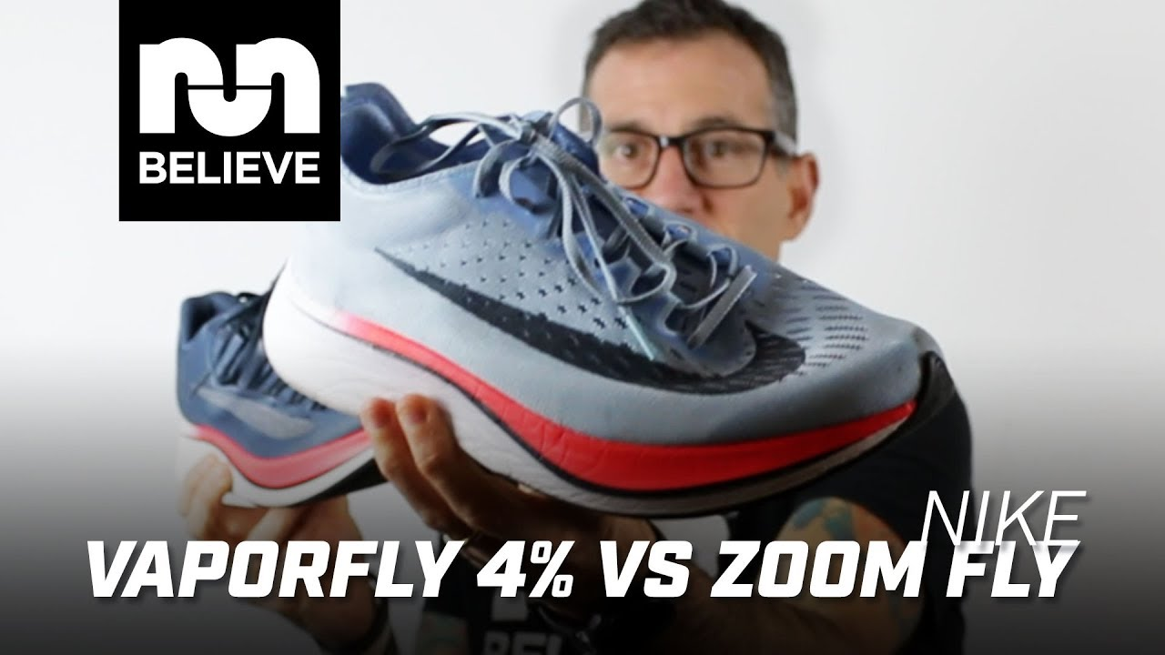 f7f387599e7 Nike Vaporfly 4 vs Nike Zoom Fly - YouTube