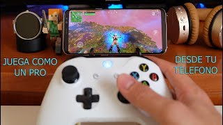 Play fortnite, free fire, pubg with xbox one controller, playstation 4 or gamepad on android.