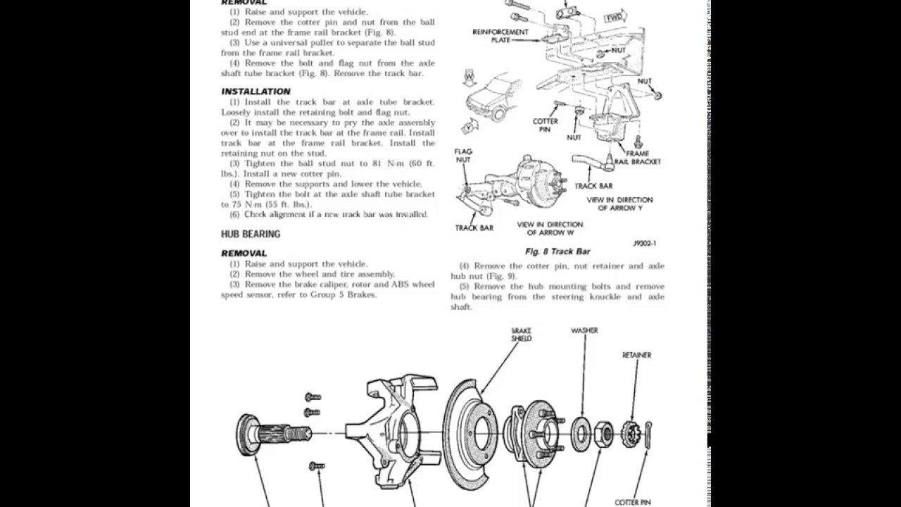 1998 jeep grand cherokee zj workshop manual / service manual