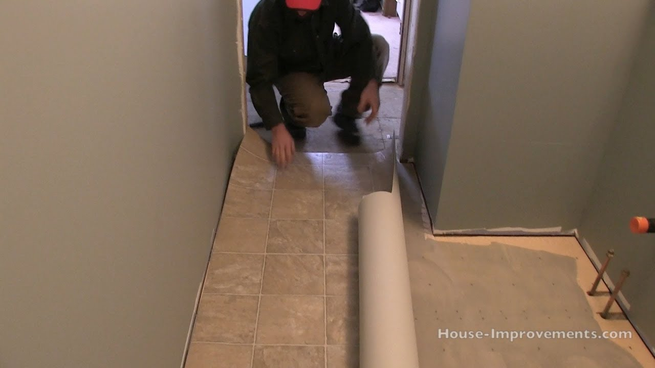 How to install vinyl flooring youtube dailygadgetfo Image collections