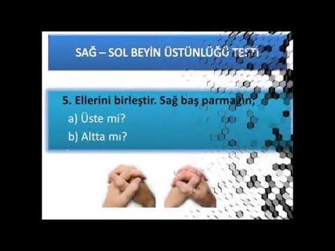 sağ beyin sol beyin üstünlüğü testi