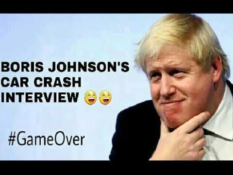 #QueensSpeech Boris Johnson's car crash interview with Eddie Mair