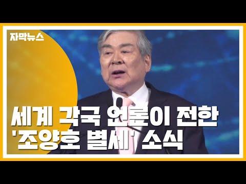 [자막뉴스] 세계 각국 언론이 전한 '조양호 별세' 소식 / YTN