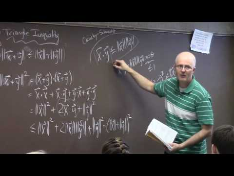Intro Real Analysis, Lec 33, Euclidean Metric, Triangle Inequality, Metric Spaces, Compact Sets