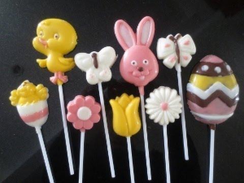Easter chocolate lollipop - YouTube