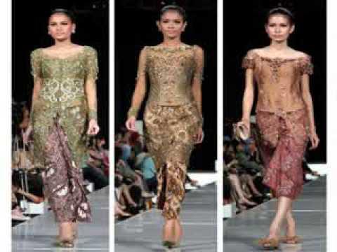 Gaun Pesta Batik Kombinasi Brokat Youtube