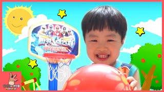 파워레인저 농구 장난감! 미니 농구선수 되다 ♡ 어린이 장난감 놀이 Power Rangers basketball toys for kids | 말이야와아이들 MariAndKids
