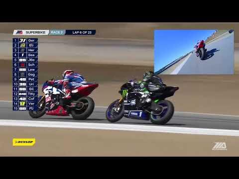 Cameron Beaubier On Board Camera EBC Brakes Superbike Race 2 at Laguna Seca