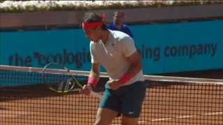 Nadal's Hot Shot Reflexes Force Wawrinka Error