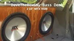 The Box Guy's BASS DEMO w/ 2 15 Inch MTX 9500 Subs & INSANE Dual Custom Aeroport Enclosure