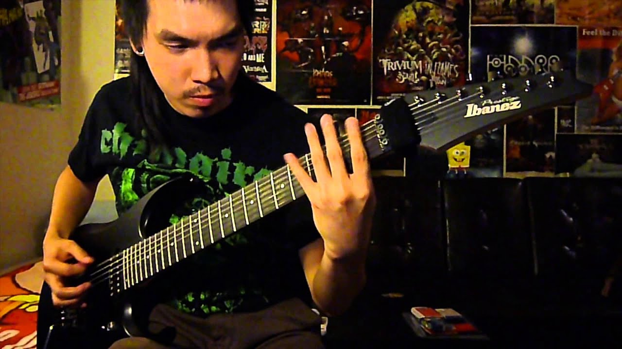 chimaira all that s left is blood guitar cover w solo youtube