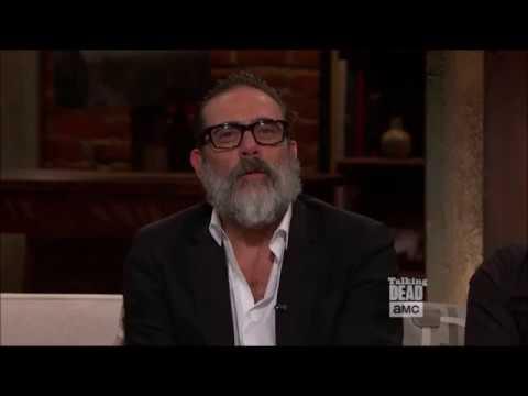 Talking Dead - Jeffrey Dean Morgan on the scene with Rick & Carl