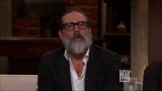 Talking Dead - Jeffrey Dean Morgan on the scene with Rick & Carl