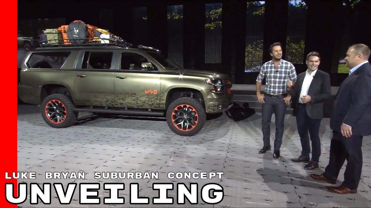 Luke Bryan Chevy Suburban Concept Unveiling - YouTube