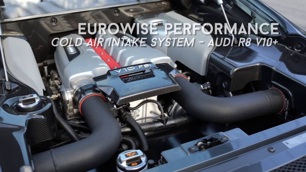 Audi R8 V10+ with Eurowise Performance Cold Air Intake ...
