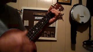 how to play long haired country boy with baritone ukulele