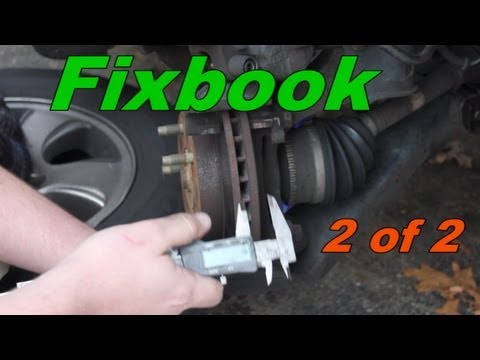 How to Replace Front Brakes Mazda Tribute 2 of 2
