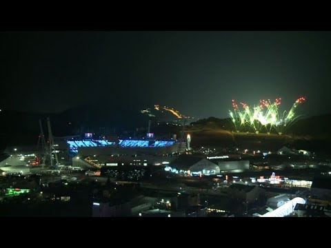 People follow Winter Olympics closing ceremony with fireworks