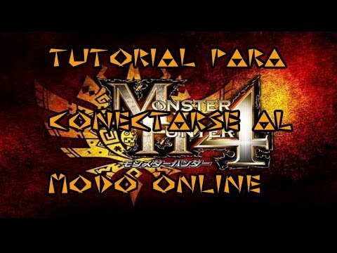 Monster hunter 4 Tutorial de como entrar Modo Online - MH4