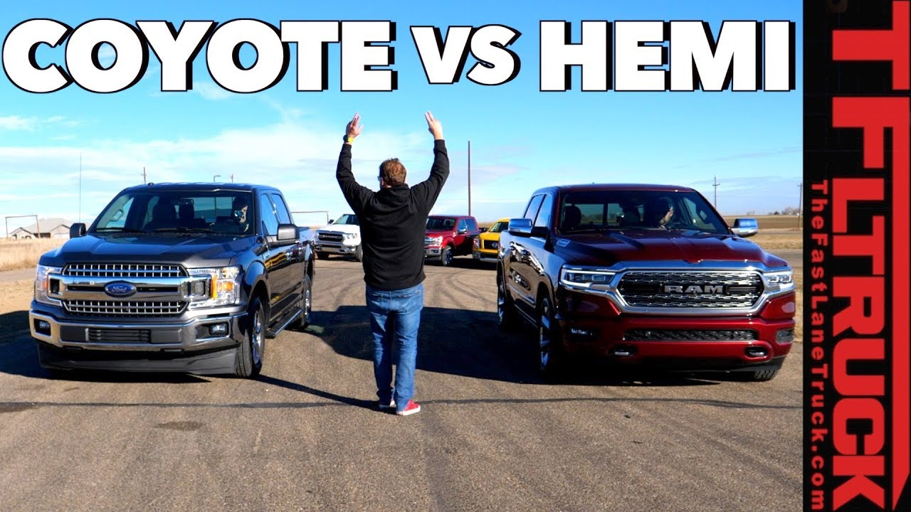 Ford F-150 Coyote V8 vs Ram 1500 HEMI Drag Race: Which Truck