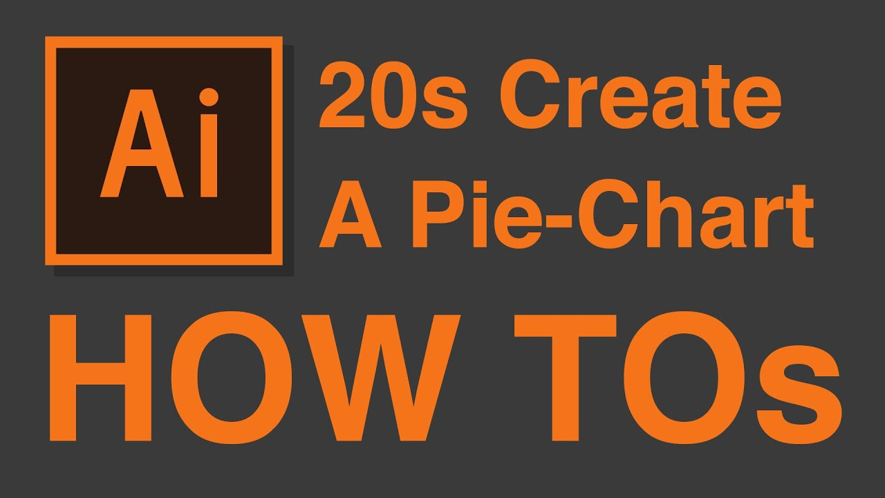 How To Create Simple Pie Chart In 20 Seconds Illustrator Cc