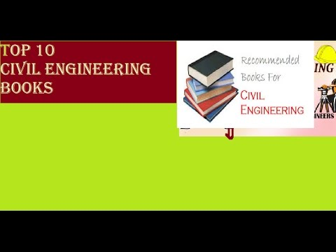 RECOMMENDED BOOKS FOR CIVIL ENGINEERING