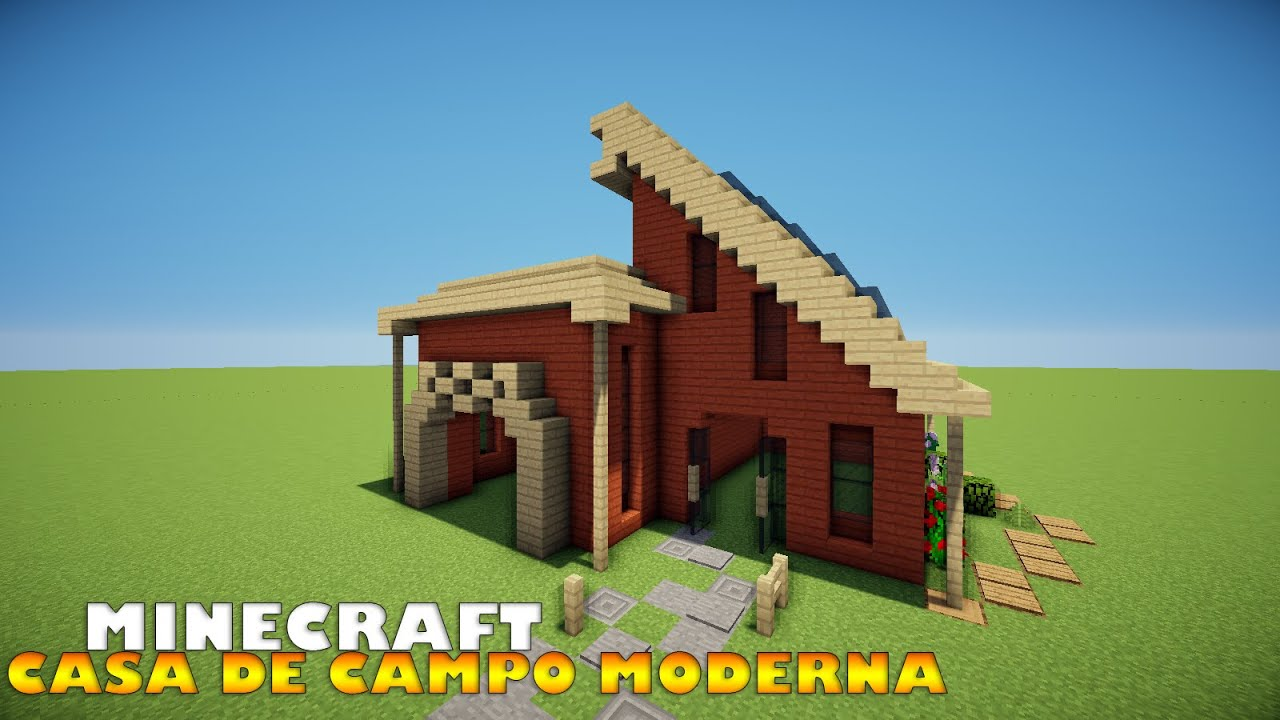 Minecraft como construir uma casa de campo moderna youtube for Casa moderna minecraft 0 10 4