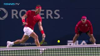 Vintage Rafa Nadal Banana Forehand! | Rogers Cup Toronto 2018 Semi-Final