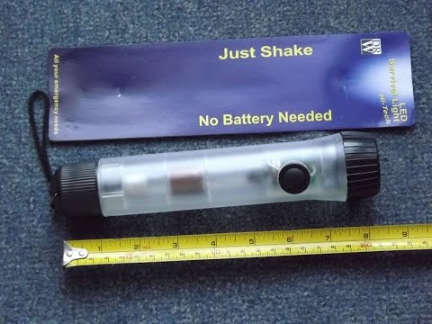 LED Shake emergency survival light torch  no batteries