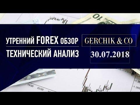 ✅ Технический анализ основных валют и нефти марки BRENT 30.07.2018 | Обзор Форекс с GERCHIK & CO.