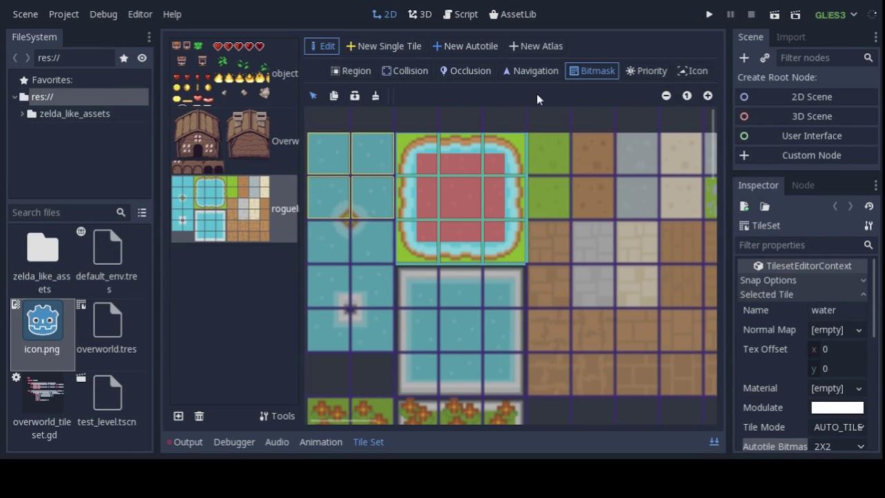 Godot Engine: Showcasing new tileset editor