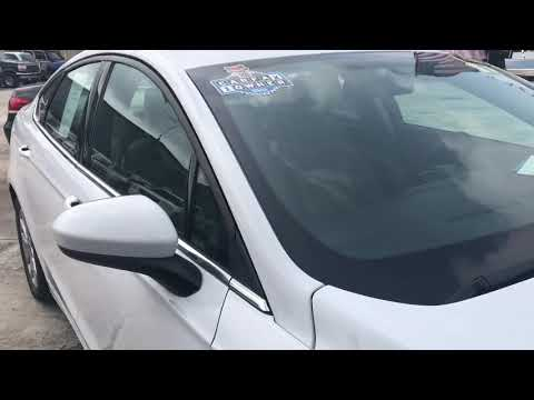 2017 WHITE FORD FUSION SE (3FA6P0HD8HR) with an 1.5L engine, Automatic transmission, located at 6921 40th St N, Pinellas Park, FL, 33781, (727) 366-8136, 27.834944, -82.687653 - Photo #0