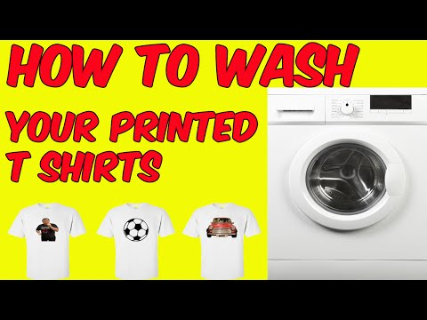 How To Wash Your Printed T Shirts