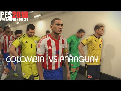 PES 2018 (PS4 Pro) Colombia v Paraguay WORLD CUP QUALIFIERS 05/10/2017 PREDICTION 1080P 60FPS
