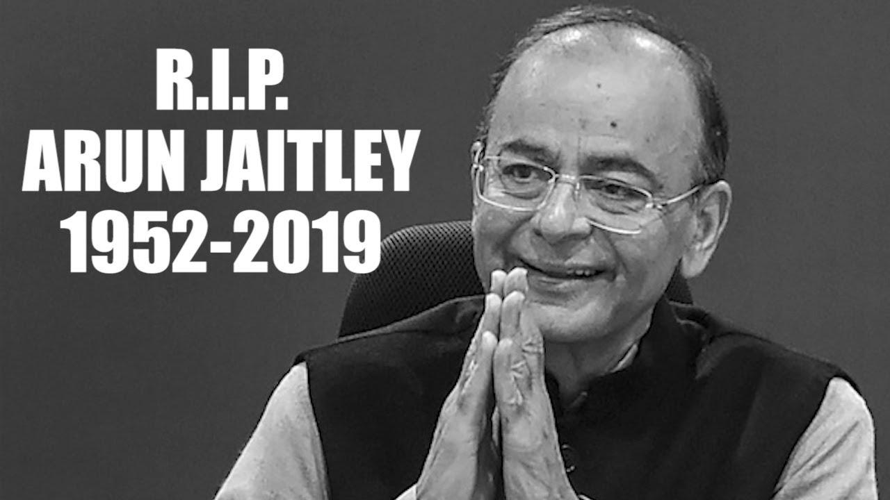 Former Indian Finance Minister Arun Jaitley dies at 66