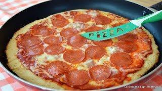 Pizza  Sin Horno a la Sarten con Masa casera