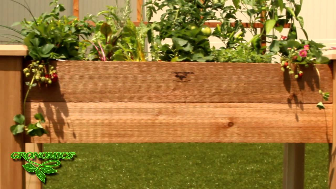 GRONOMICS® Rustic Elevated Garden Bed   YouTube