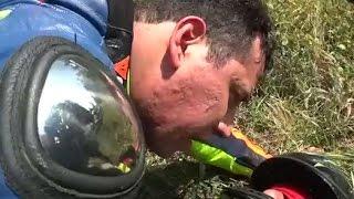 Impactante!!! Motociclista provoca accidente y muerte de otro motociclista