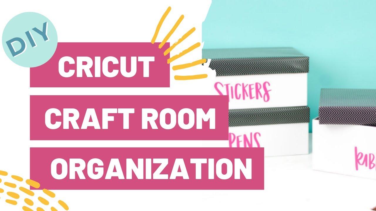 DIY CRICUT CRAFT ROOM ORGANIZATION!