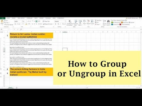 How to Group Rows/Column in Excel | Microsoft Excel Tutorial
