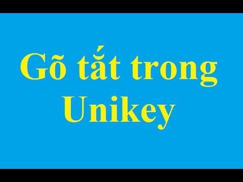 Sử dụng chức năng gõ tắt trong Unikey – Taimienphi.vn