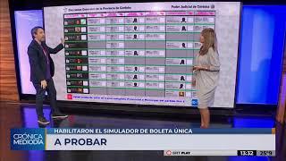 Elecciones Córdoba: ya se puede ensayar el voto con boleta única