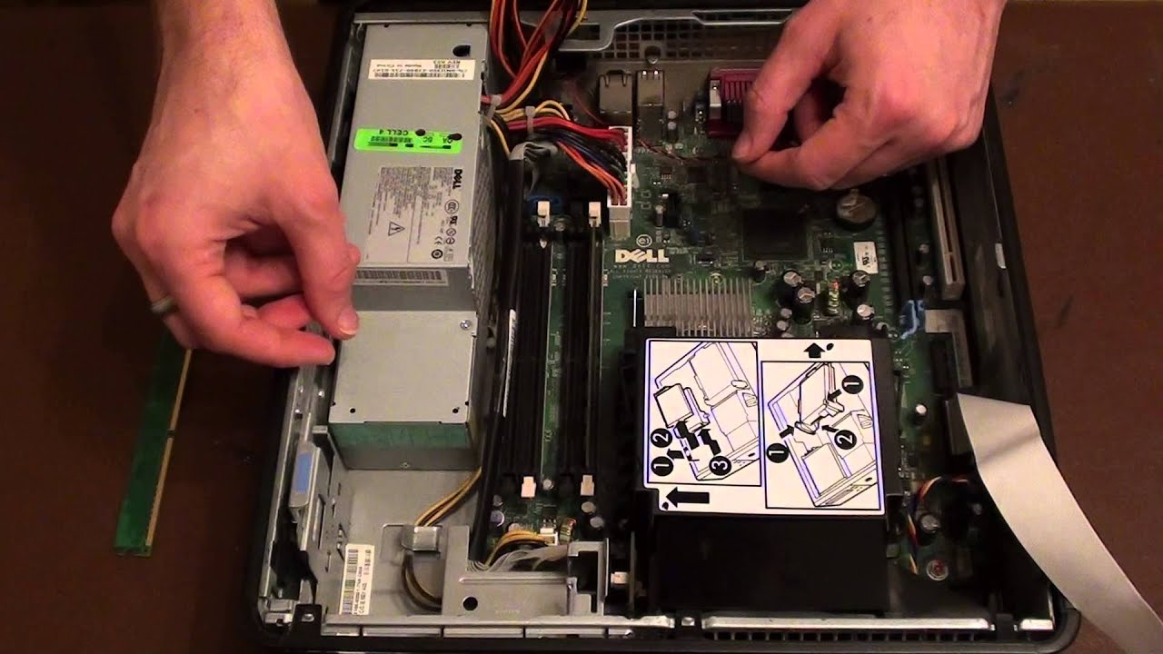 How To Install Ram In A Dell Optiplex 745 Youtube