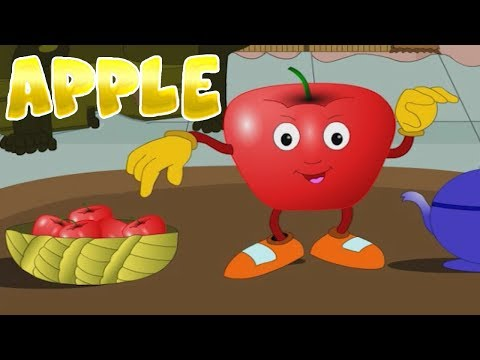 Apple Fruit Rhymes | English Rhymes | Popular Rhymes For Children | Apple Poems |