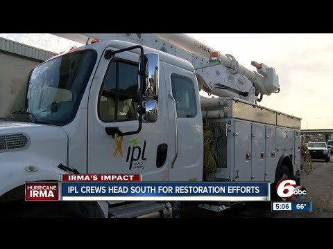 Indianapolis Power and Light travel to Florida to restore electricity lost by Hurricane Irma