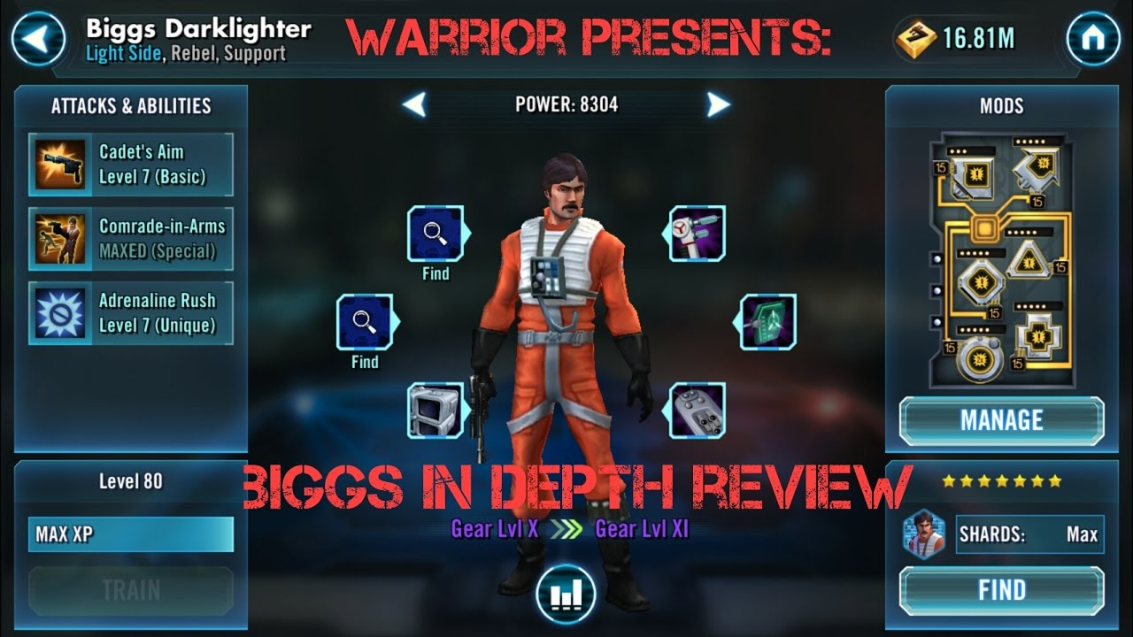 Swg Clone Wars Mod: Biggs Darklighter In Depth Character Review Star Wars