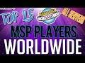Highest Level MSP Players Worldwide [All Servers]