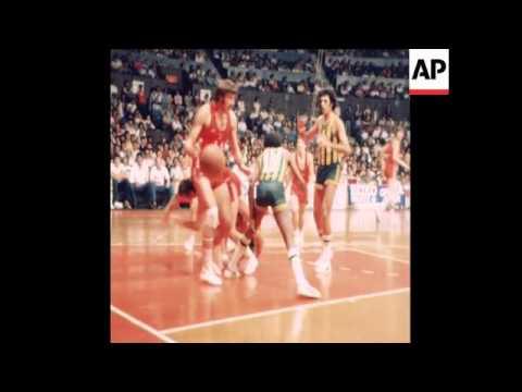 UPITN 15 10 78 WORLD BASKETBALL CHAMPIONSHIP BETWEEN USSR AND BRAZIL