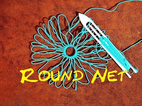 Round Net Making - How to Make a Round Net or Making a Round Net Bag